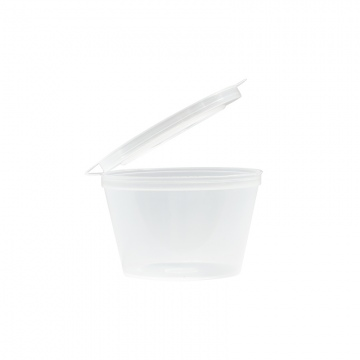 Emperor 70ml Polypropylene Sauce Cup with Lid